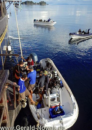 Diving Tenders speed boat - liveaboard WAOW indonesia Komodo Alor Flores Raja Ampat Wakatobi Sulawesi Manado