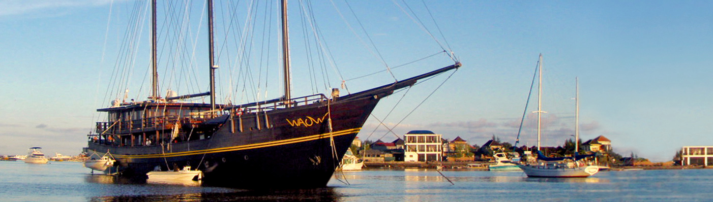 WAOW Charters Benoa Serangan Harbor Bali Indonesia - Luxury liveaboard for dive charters and cruises