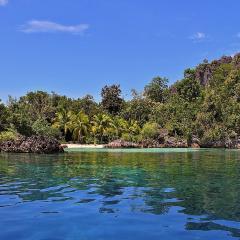 Phinisi Pinisi bateau de plongée et voilier WAOW à Misool en Indonésie, visite des lagunes à Misool